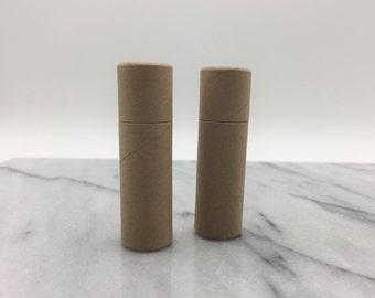 12 Kraft Lip Balm Tubes - Eco Friendly