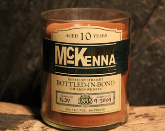 Henry McKenna Bourbon Whiskey Candle Gift / Bourbon Candle / Gift For Him, Gift For Guy, Grandparents gifts, Fathers Day Gift