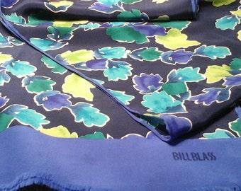 Bill blass, designer silk, rayon, scarf