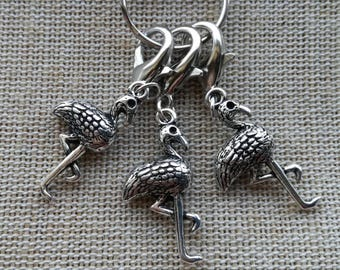 Stitch Markers for Crochet, Progress Keepers, Flamingo Stitch Markers, Progress Keepers, Crochet Notions, Knitting Notions, Knit Gift, Charm