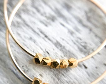 Small Gold Hoops  - Simple Gold Hoops - Gold Filled Hoops - Wife Gold Earrings - Large Hoop Earrings - Thin Hoops Skinny Hoops Trending Gold