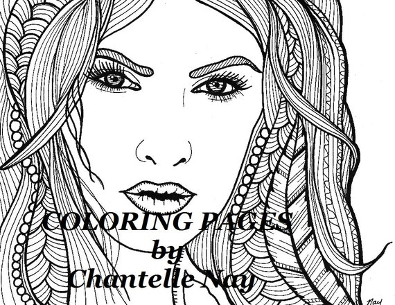 Morgana Coloring page woman face adult coloring picture
