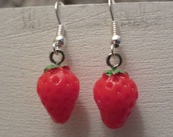 """Strawberry earrings """"collection fruity"""""""