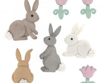 Dress it up! Establishment Buttons Cotton Tails Bunnies Easter