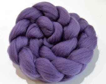 Shetland Wool Combed Top - Purple - Conservation Breed - 100 grams