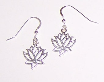 Sterling Silver LOTUS FLOWER Earrings - Rebirth