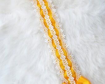 Yellow Thin Lace Lolita Classical Headdress