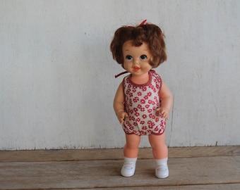 Vintage 1967 Mattel Inc. Baby Small Walk Doll