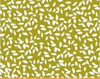 Lemmikki by Lotta Jansdotter for Windham Fabrics - 43087-2 - Lime Yellow - FQ - Fat Quarter - Cotton Quilt Fabric