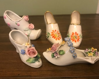 Vintage Miniature High Heel Shoe Lot of 5 Shoes Germany and Japan