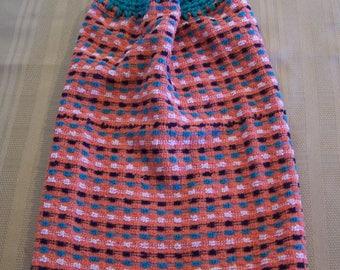 Hanging Dish Towel, Hanging Kitchen Towel, Crochet Top Towel, Hanging Dish Towel, Housewarming Gift, Home Decor