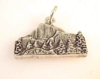 Sterling Silver HALF DOME Charm Pendant Yosemite National Park California .925 Sterling Silver New np06