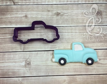 Vintage Pickup Truck Cookie Cutter and Fondant Cutter and Clay Cutter
