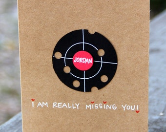 I Miss You Card (Personalized) - Off Target