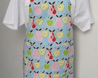 Bib Apron Apples and Pears Pastel