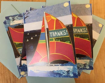 Sail Boat Boxed Note Cards