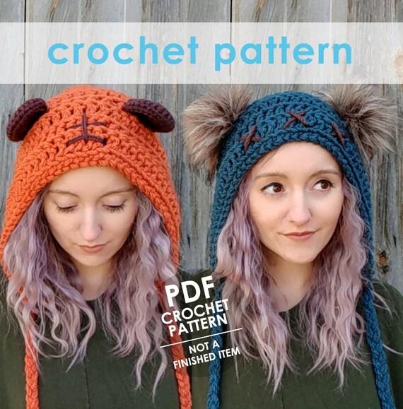 Bear Ear Hat Knitting Pattern Vinyl