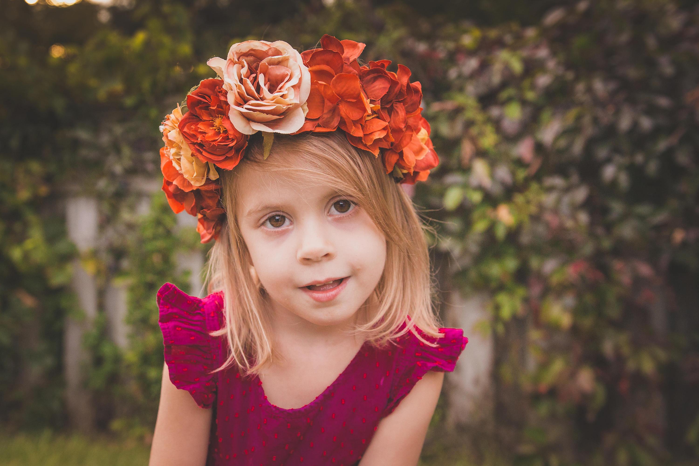 Fall Flower Crown Orange Flower Crown Flower Crown Adult