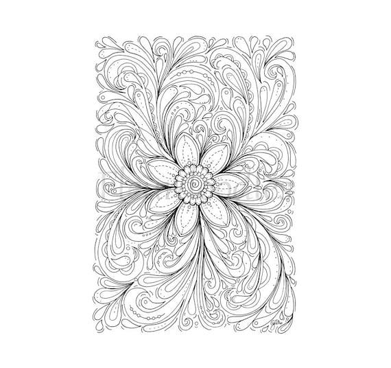 florales Bild zum Ausmalen Blumen Dream of a Flower