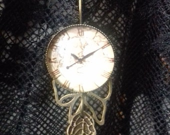 fake romantic watch with bow, steampunk
