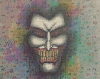 The Joker cross stitch pattern