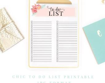 To Do List Printable - Instant Digital Download planner  - work printable - productivity printable - home printable - organization printable