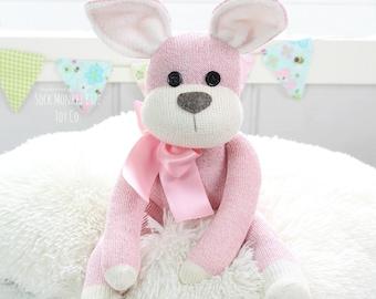 Limited - Pink Bunny Rabbit Doll, Child's Stuffed Plush Toy