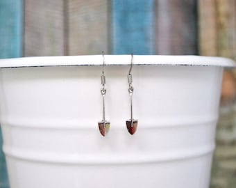 Shovel Earrings, Dangle Earrings, Silver Earrings, Gardener Earrings, Gardener Gift, Silver Jewelry