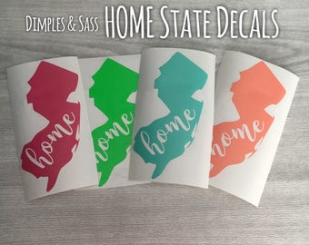 Home State Decal | Car Decal | Personalized State Decal | State Bumper Sticker | Home State