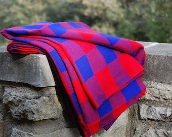 MASAI SHUKA, African Clothing For Women, African, African Fabric, Masai Shuka Wholesale, Masai Blanket, Masai Fabric, Picnic Blanket