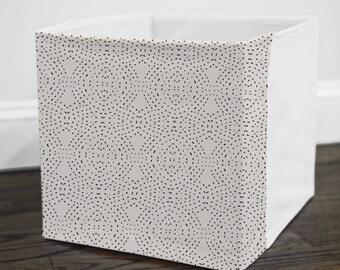 Seville Quilt Light // Storage Bin Cover // Fits into Ikea KALLAX or EXPEDIT shelf unit  // Ikea DRONA Box Cover