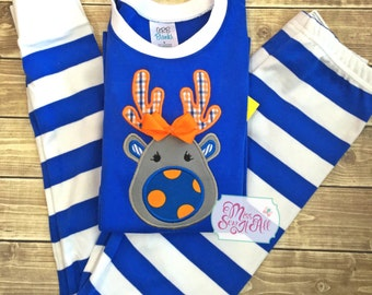 Deer Pajamas, Christmas Pajamas, Unique Holiday Pajamas, Holiday Pajamas