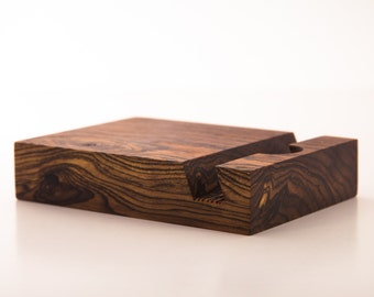 iPad Stand - Bocote Wood (tablet stand, iPad, docking, mens gift, tech gift)