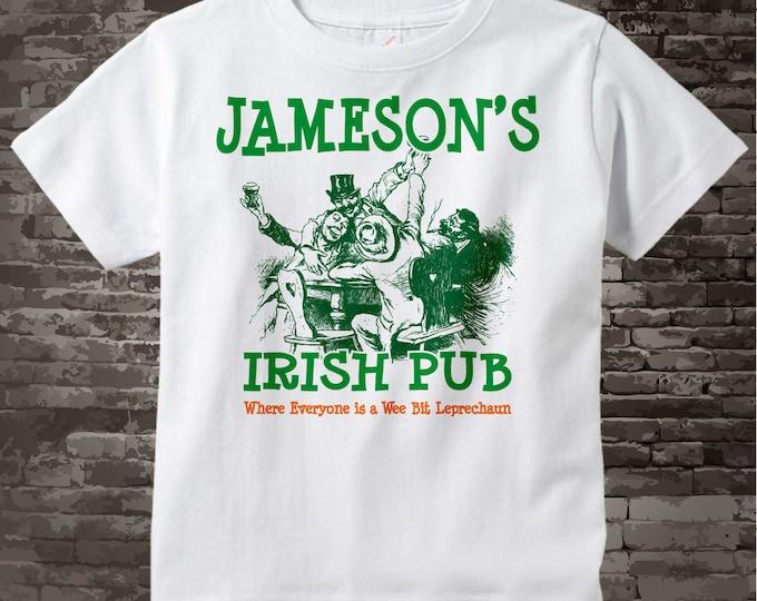 St Patrick's Day Shirt - Your Last name as an Irish Pub logo - Custom Irish Pub tshirt - 08212015c