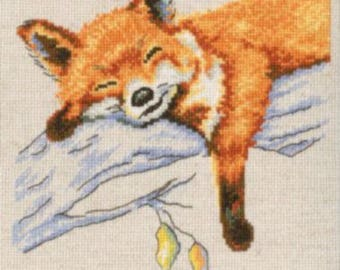 NEW UNOPENED Russian Counted Cross Stitch Kit RTO M631 Autumn dream Fox cub
