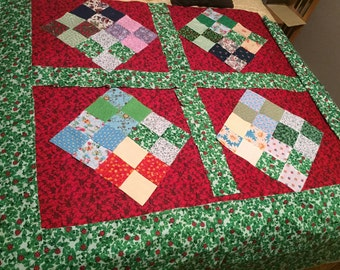 Hand Tied Quilt-Window Pane style