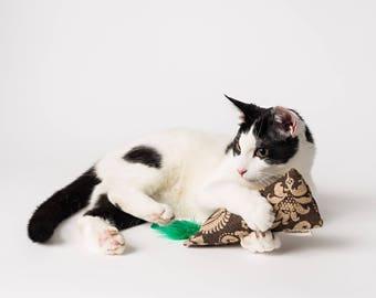 Cat Crinkle Toy, Christmas Cat Gift, Kick Sticks, Kitty Kicker, Kitty Kick Stick, Kitty Kicker Toy, Burlap Toys, Catnip Kickers, Catnip Kick
