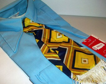 """Vintage Ladies Blouse with Head Band Fringe Scarf """"Authentic Hippie"""" 1960 size 34  bx10  79972778"""