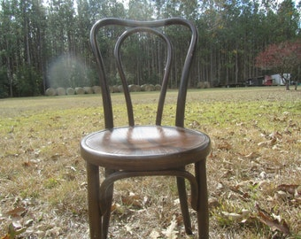Fischel chair, wood chair, antique chair, ice cream parlor chair, dining chair,Shabby Chic Furniture, Bentwood Chair