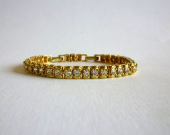Vintage Avon Bracelet with Rhinestones and Extension