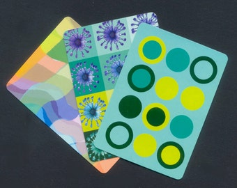 Patterned Playing Cards - Great for ATC, Collage, Mixed Media