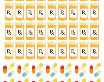 Prescription Stickers (planner stickers)