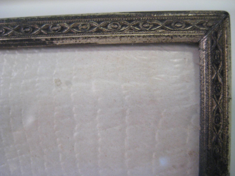 Vintage photo frame overton originals convex glass silver plate get shipping estimate jeuxipadfo Images