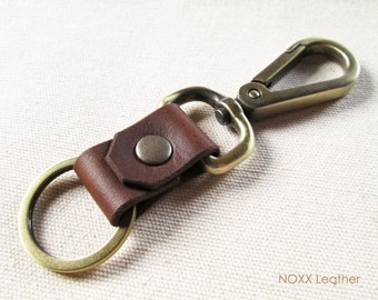 Belt Leather Key Fob, Leather Keychain, Belt Clip Leather Key Chain, Gift under 10 dollars