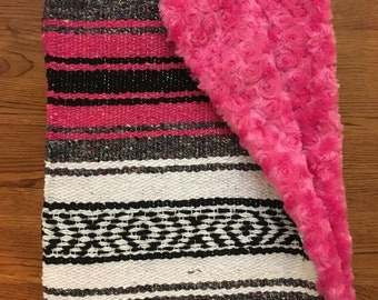 Mexican Baby Blanket- Fuschia