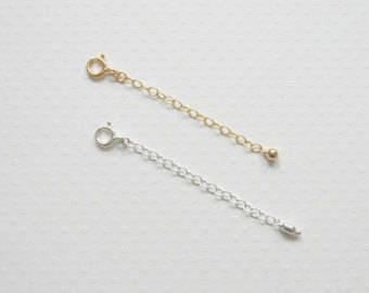 "10x Extender Chain Silver Plated 3 X 6 mm (0.12 inch X 0.24 inch), Thick 0.8 mm (20 Gauge) , Measure 2.5"" Long"