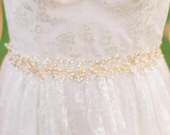 Bridal Belt Bridal Sash Pearl Bridal Belt Beaded Belt Beaded Bridal Belt Crystal Belt Crystal Bridal Belt Pearl Belt #104