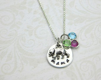 Mama Bear Necklace, Mama Bear Jewelry, Personalized Mom Necklace, Mom Jewelry, Mother's Day, New Mom Necklace, Gift For Mom Necklace,