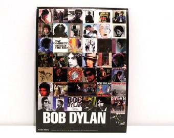 Bob Dylan Sticker Set 1997 Vintage Time Out of Mind Card of 44 Miniature Stickers with Album Cover Artwork 1990s