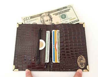Leather Wallet with Coin Pocket - Bifold Wallet Leather - Vintage Wallets Leather - Travel Wallet - Mens Wallet or Womens Wallet